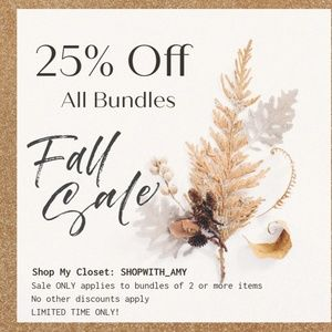 LIMITED TIME ** 25% OFF Bundles
